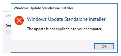 Updates Are Not Applicable