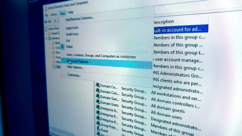 Active Directory Advanced Features